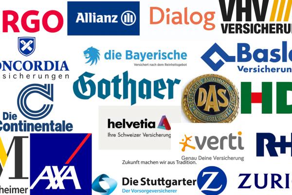 remibakker.de - logos van verzekeringen